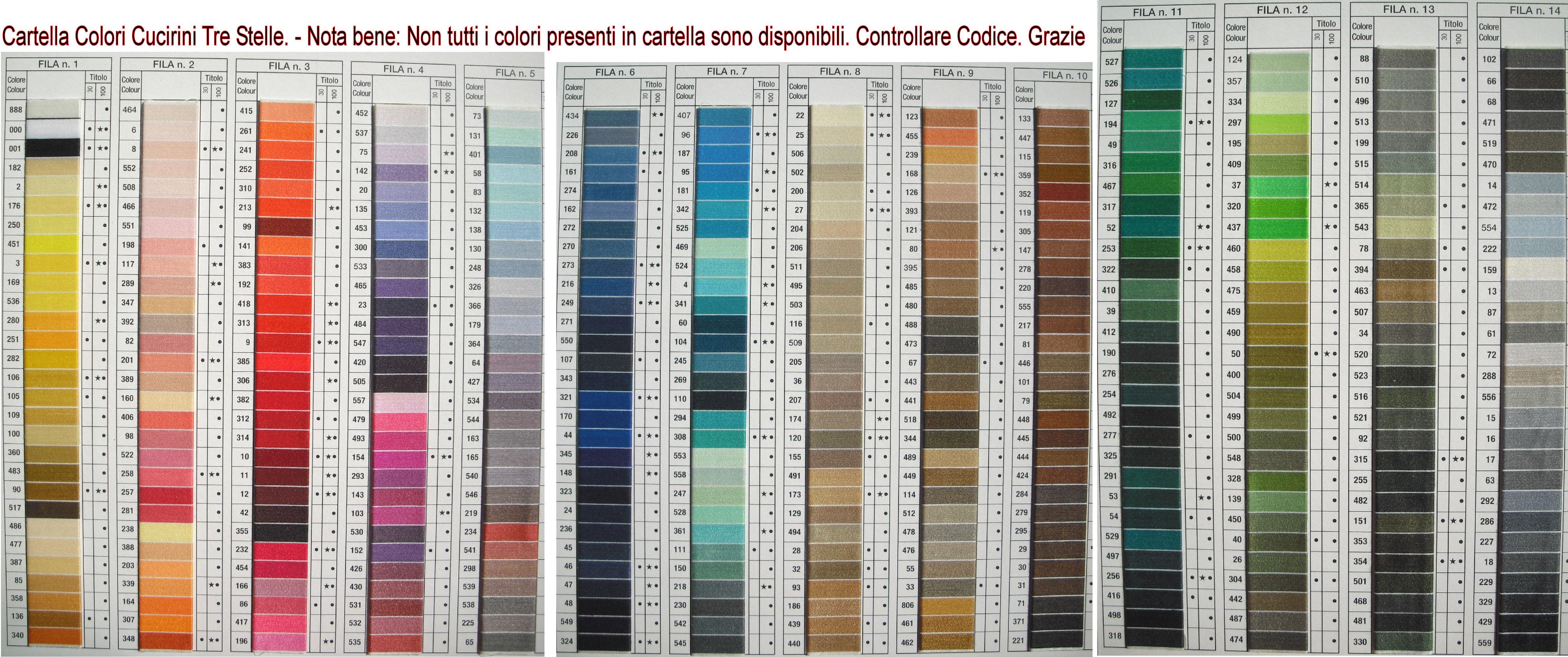 Cartella colori madeira rayon